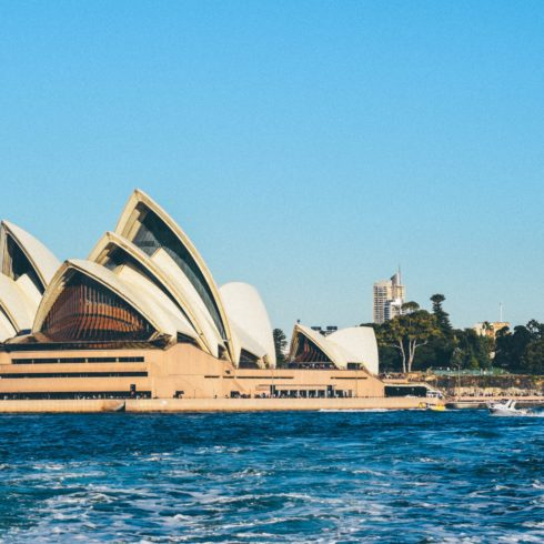 sunny photo of the Sydney opera house
